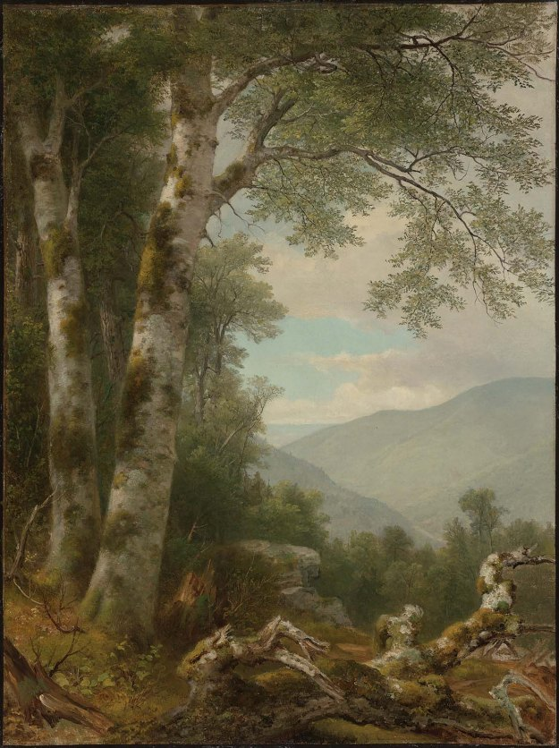 AB Durand Landscape with Birches