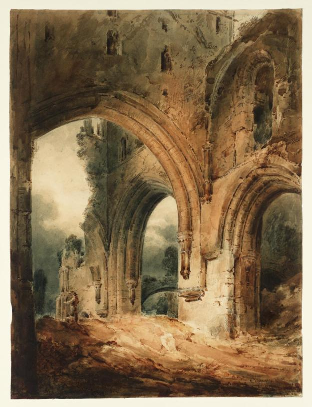 Llanthony Abbey 1801 by John Sell Cotman 1782-1842