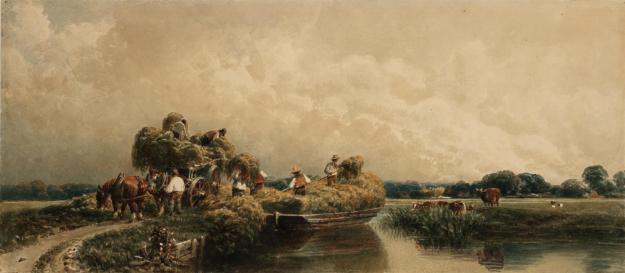Roman Canal, Lincolnshire c.1840 by Peter De Wint 1784-1849