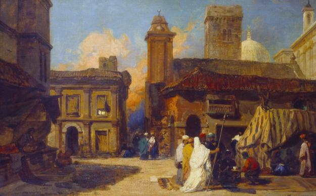 View of Bologna: Capriccio with Eastern Figures c.1835 by William James M?ller 1812-1845