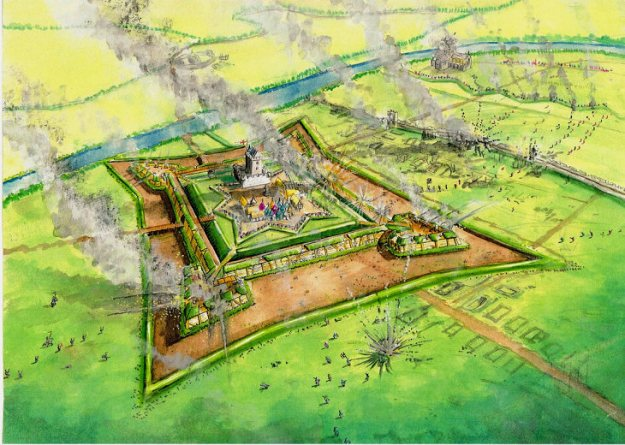 Siege of Haddington Englis earth and timber fortress