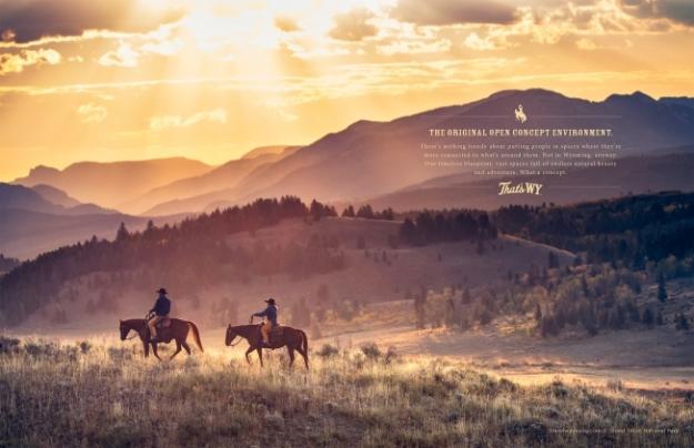 Wyoming by BVK ad agency - manifest destiny reflection
