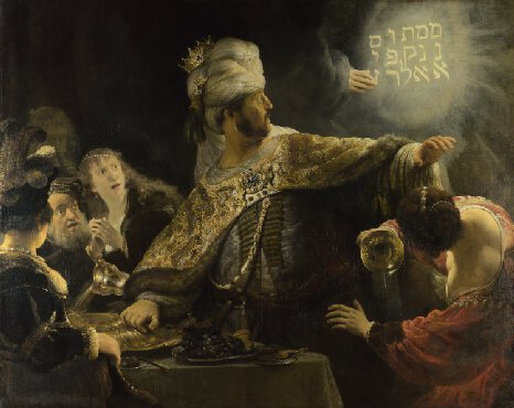 part 5 - white cube - Belshazzars Feast - Rembrandt