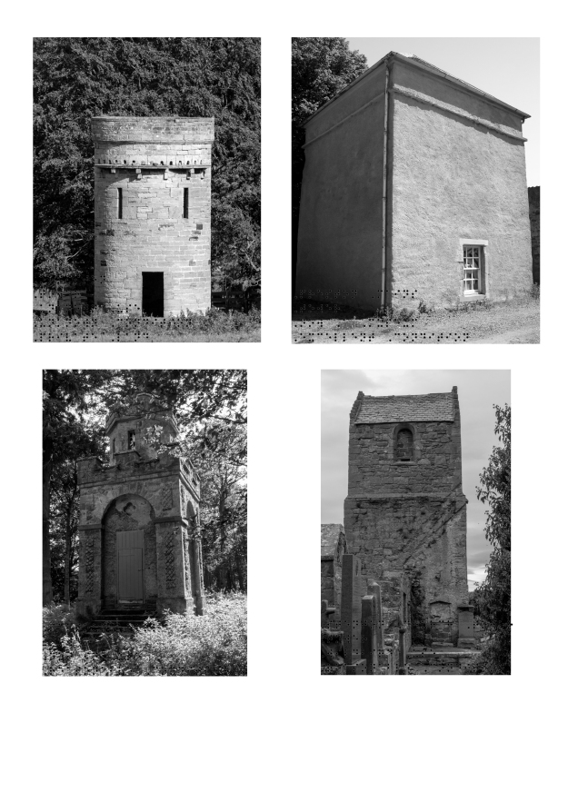 10 - Doocots Third complete set of 4 Tower in B and W completed with Braille
